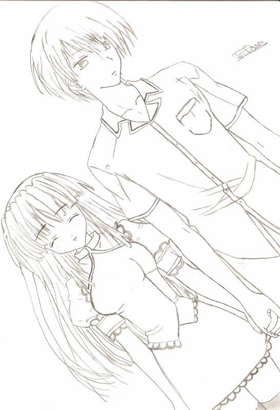 Mes dessins les gar ons et les couples manga blog de manga girl du 62 - Dessin manga couple ...